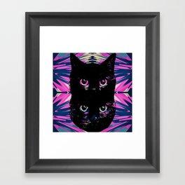 Black Cat Rising Framed Art Print