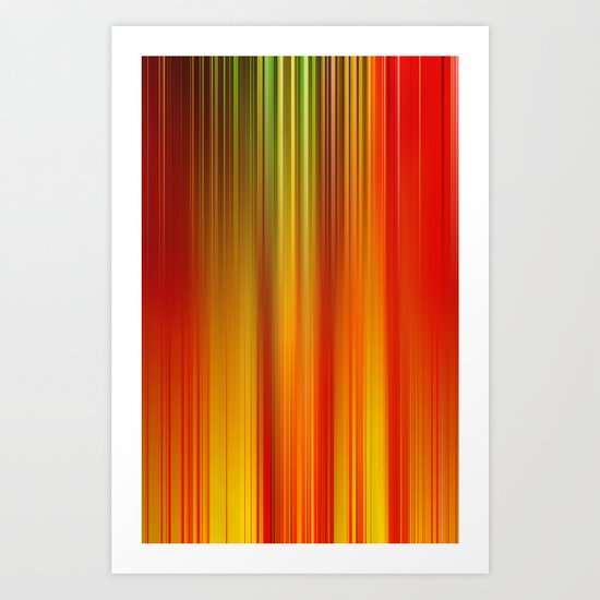 Burning Field Art Print