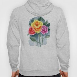 Red, Yellow and Pink Roses Hoody