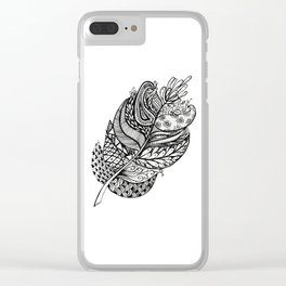 feathering Clear iPhone Case