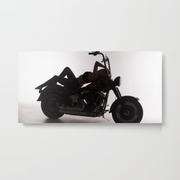 Harley Motorbike - Elise Metal Print