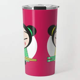 Funny Japanese Girls Travel Mug