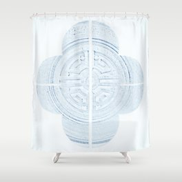 Geometry of a Ginger Jar IV Shower Curtain