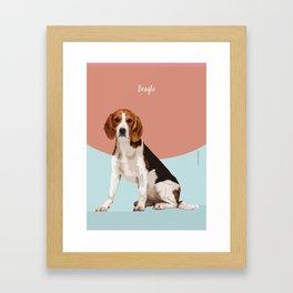 Dog Breeds_Beagle. Framed Art Print