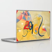 new year Laptop & iPad Skins featuring new year by luiza13