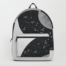 abstract moon drawing art, interior, drawing, decor, design, bauhaus, abstract, decoration, home, gi Backpack
