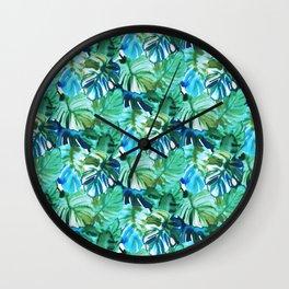 Palm Leaf Green Wall Clock