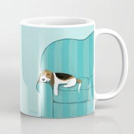 Happy Couch Beagle Coffee Mug