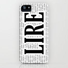 """Juste """"LIRE"""" iPhone Case"""