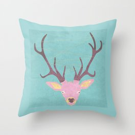 Reindeer Art Throw Pillow