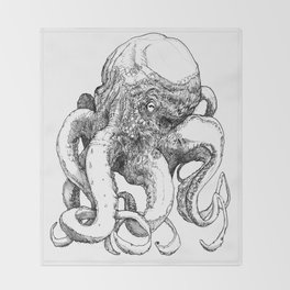 Octopus VI Throw Blanket