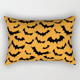 Halloween Bats Pattern Rectangular Pillow