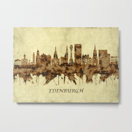 Edinburgh Scotland Cityscape Metal Print