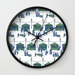 Let's Go to the Market! – Xmas Edition Wall Clock