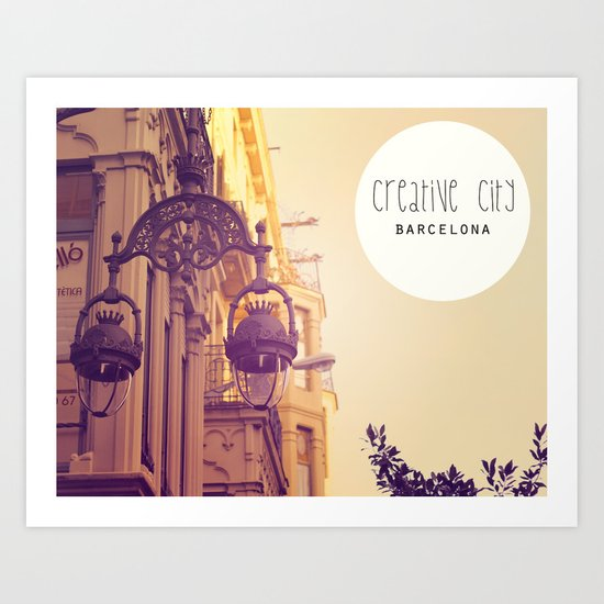Barcelona Creative City Art Print