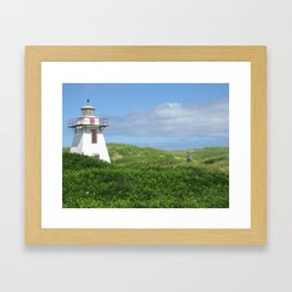 A Boy and His Lighthouse Framed Art Print