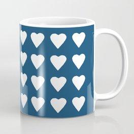64 Hearts Navy Coffee Mug
