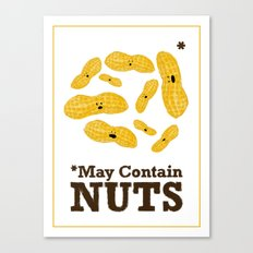 *May Contain Nuts Canvas Print