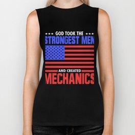 God Created Mechanics Biker Tank