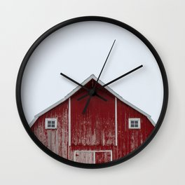 The Red Barn Wall Clock