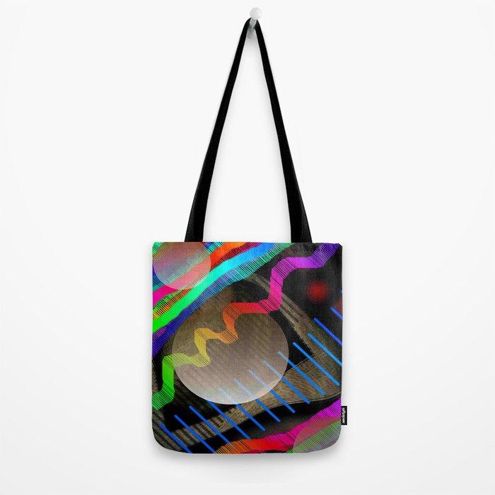 Rainbow Wave Tote Bag