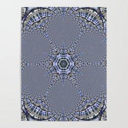 Blue Star Kaleidoscope Poster