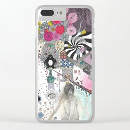 """""""Flowers""""  Illustrated print Clear iPhone Case"""