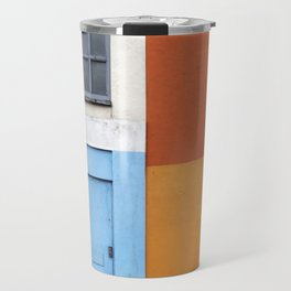 White Red Blue Orange Travel Mug
