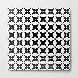 Geometric Pattern 245 (black crosses) Metal Print