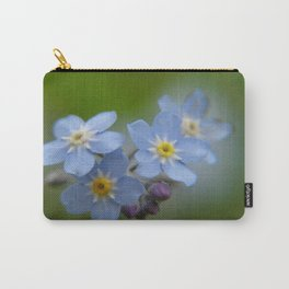 Close-up Forget Me Not - Blue Myosotis Carry-All Pouch