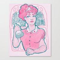 princess bubblegum Canvas Prints featuring Princess Bubblegum by Weird Zebra Thing