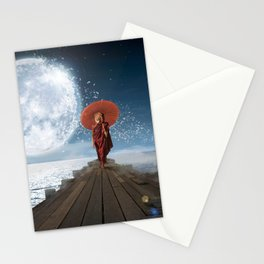 Lion Under the Moon Stationery Cards