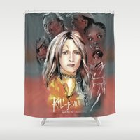 kill bill Shower Curtains featuring Kill Bill by RJ Artworks