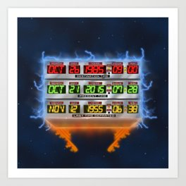 Time Circuit Illustration / BTTF 80S Art Print