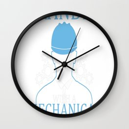 Mechanical Engineering Grandpa Wall Clock