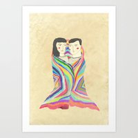 blanket Art Prints featuring blanket by lazy albino