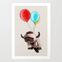 appa Art Prints featuring Balloon Appa by Ang.
