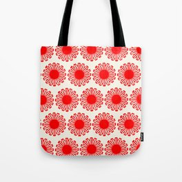 vintage flowers red Tote Bag