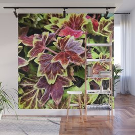Painted Geraniums Wall Mural