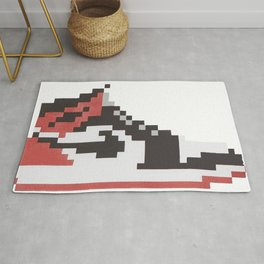 Michael Air Jordan 1 Pixel Blacktoe Chicago Rookie of the Year Rug