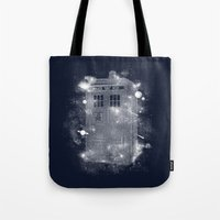 tardis Tote Bags featuring Tardis by Zach Terrell