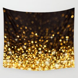 Gold Ombre Glitter Wall Tapestry