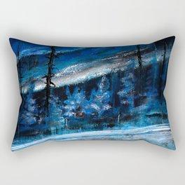 Natt Nordisk Ski winter landscape by Dennis Weber / ShreddyStudio Rectangular Pillow