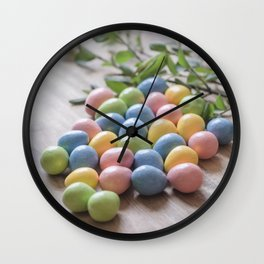 Easter Eggs 19 Wall Clock
