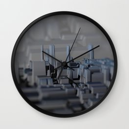 Urban technology buildings space aerial view Wall Clock