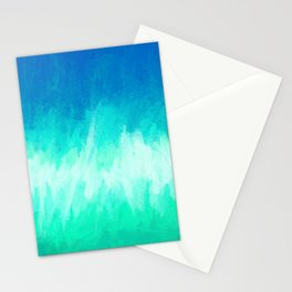 Blue Waterfall Abstract Stationery Cards