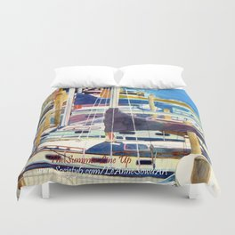The Summer Line Up Duvet Cover
