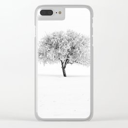 Winter Silence Clear iPhone Case