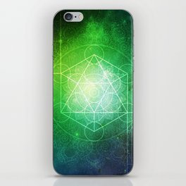 Abstract Deep Space Portal Blue-Green iPhone Skin