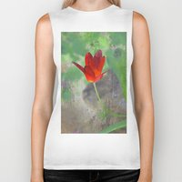 tulip Biker Tanks featuring Tulip by LoRo  Art & Pictures